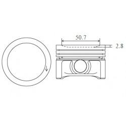 ARCO Piston 63,75MM (+0.25) M160 3cyl 600cc