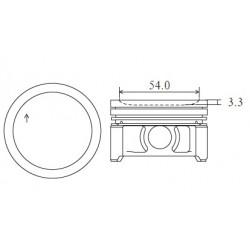 ARCO Piston 66,50MM (std) M160.910 3cyl 700cc