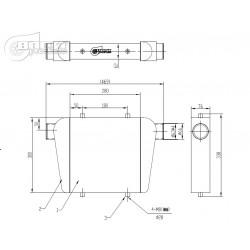 INTERCOOLER 280x300x76mm-63mm BOOST PRODUCTS