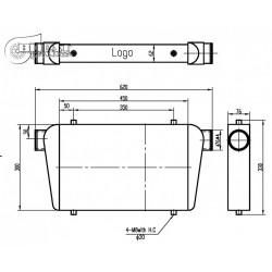 INTERCOOLER 450X300X76mm-76mm  BOOST PRODUCTS