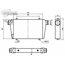INTERCOOLER 450x300x76mm-63mm BOOST PRODUCTS