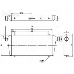 INTERCOOLER 600x300x76mm-63mm BOOST PRODUCTS