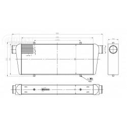 INTERCOOLER 700x300x100mm-76mm BOOST PRODUCTS