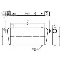 Intercooler 600x300x76mm-76mm Boost Products
